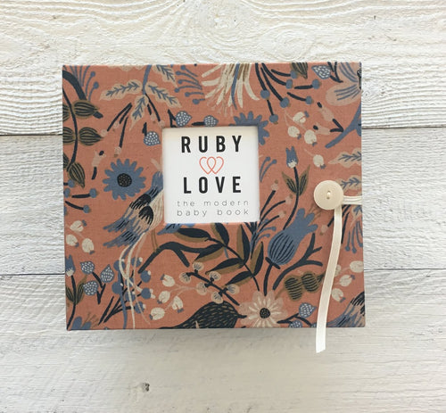 Rifle Paper Co. Peach Folk Birds | Baby Book