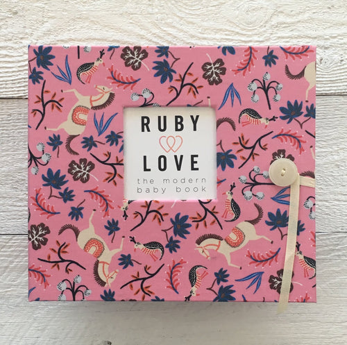 Rifle Paper Co. Pink Carousel | Baby Book