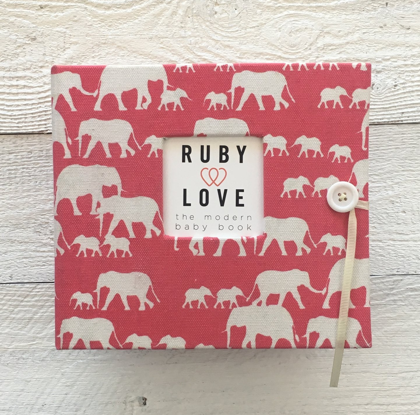 Elephant Silhouette | Baby Book