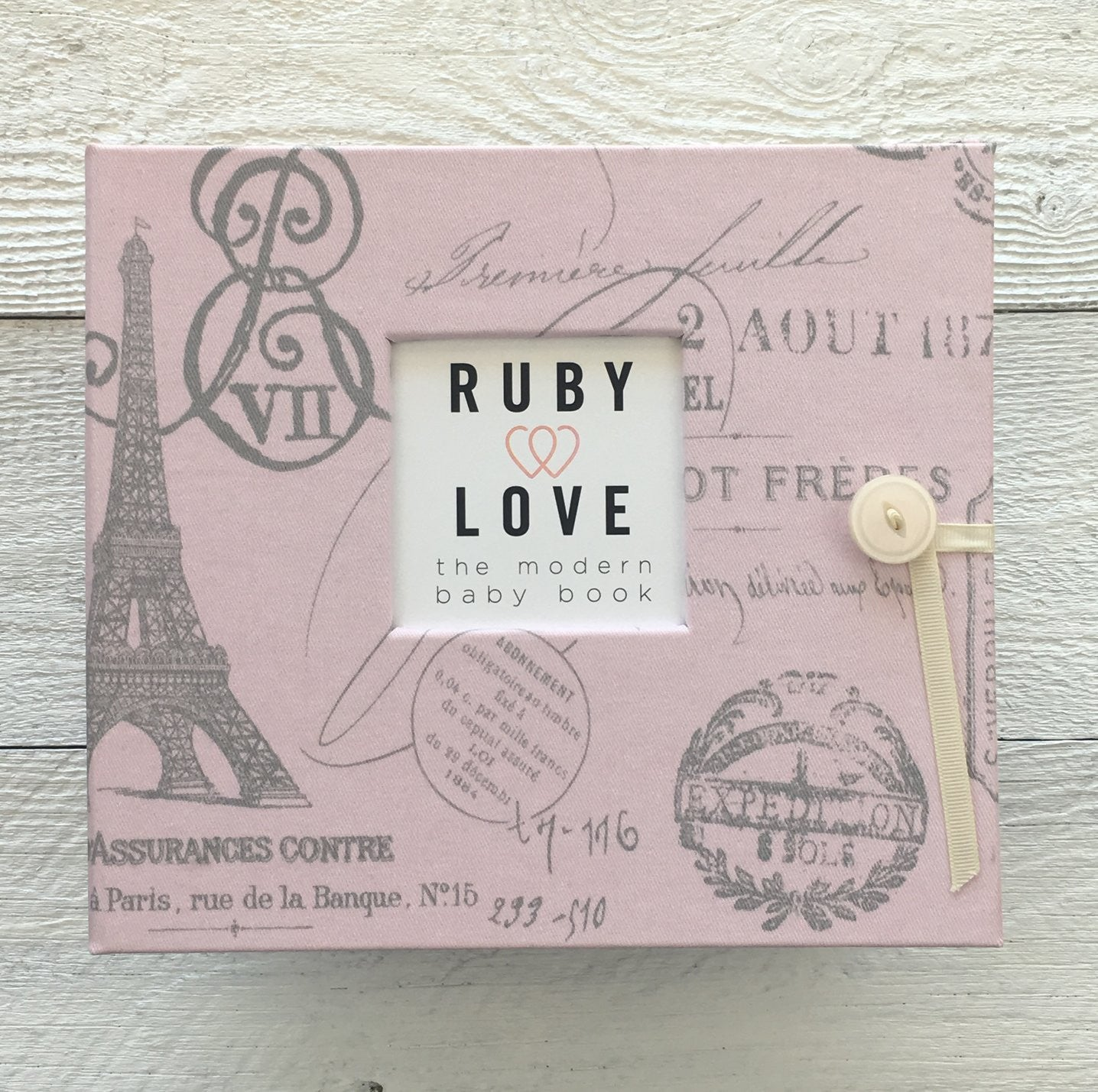 Pink Parisian Toile | Baby Book