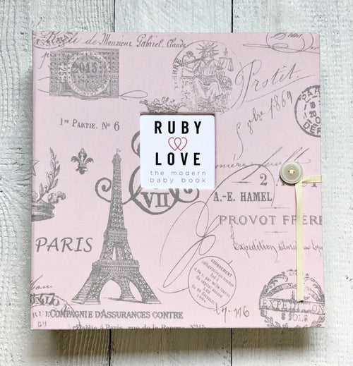 Pink Paris Toile | School Years Memory Book