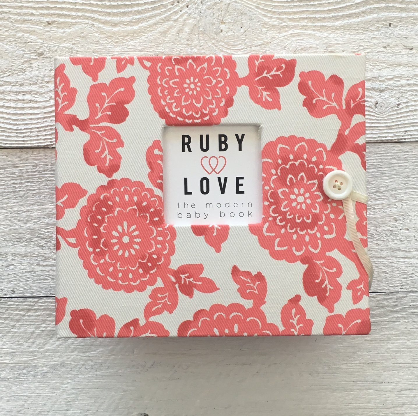 Modern Red Mums | Baby Book