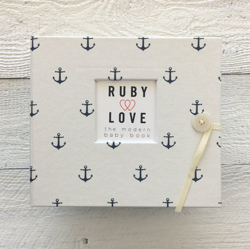 White Anchors | Baby Book