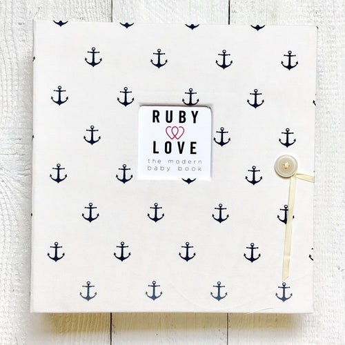 White Anchors | School Years Memory Book