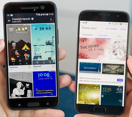 HTC10 vs Samsung S7 display