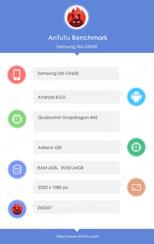 AnTuTu benchmark for S9+ Snapdragon 845