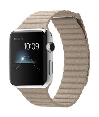 Apple Watch 42mm with Stone Leather Loop (L)