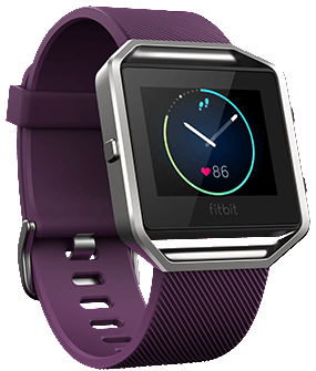 Fitbit Blaze Smart Fitness Watch (Large, Plum)