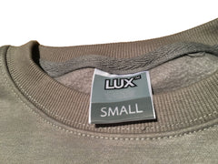 Grey LUX Sweater + Patch