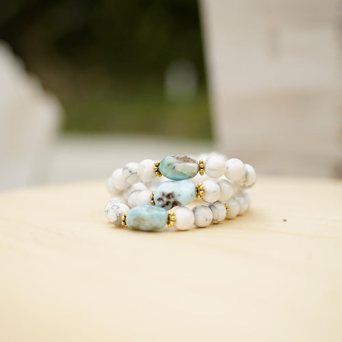 Larimar & Howlite - Anxiety Relief