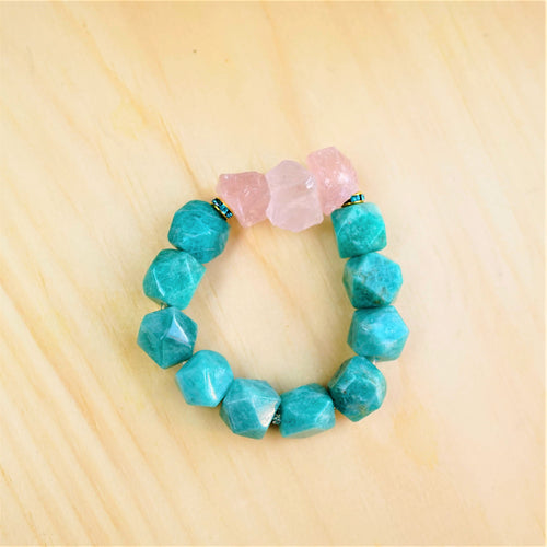 Amazonite & Rose Quartz - Healing and Self-Love