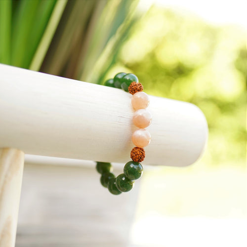 Sunstone, Jade & Rudraksha - Comfort and Deep Connection