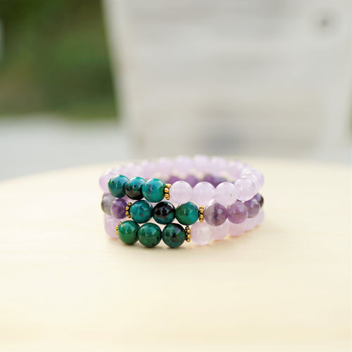 Amethyst & Chrysocolla - Intuition and Connection to Feminine Energy