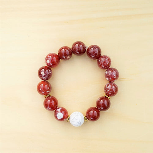 Snakeskin Agate & Howlite - Confidence and Inner Strength