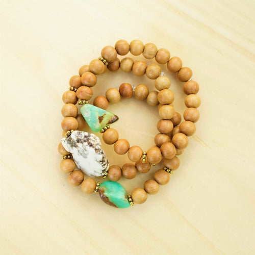 Chrysoprase & Magnesite Slab & Sandalwood - Earthy, Grounded and Uplifted