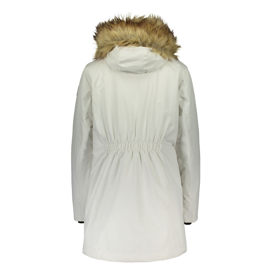Raiski Sorla Womens Plus Size Parka Jacket White