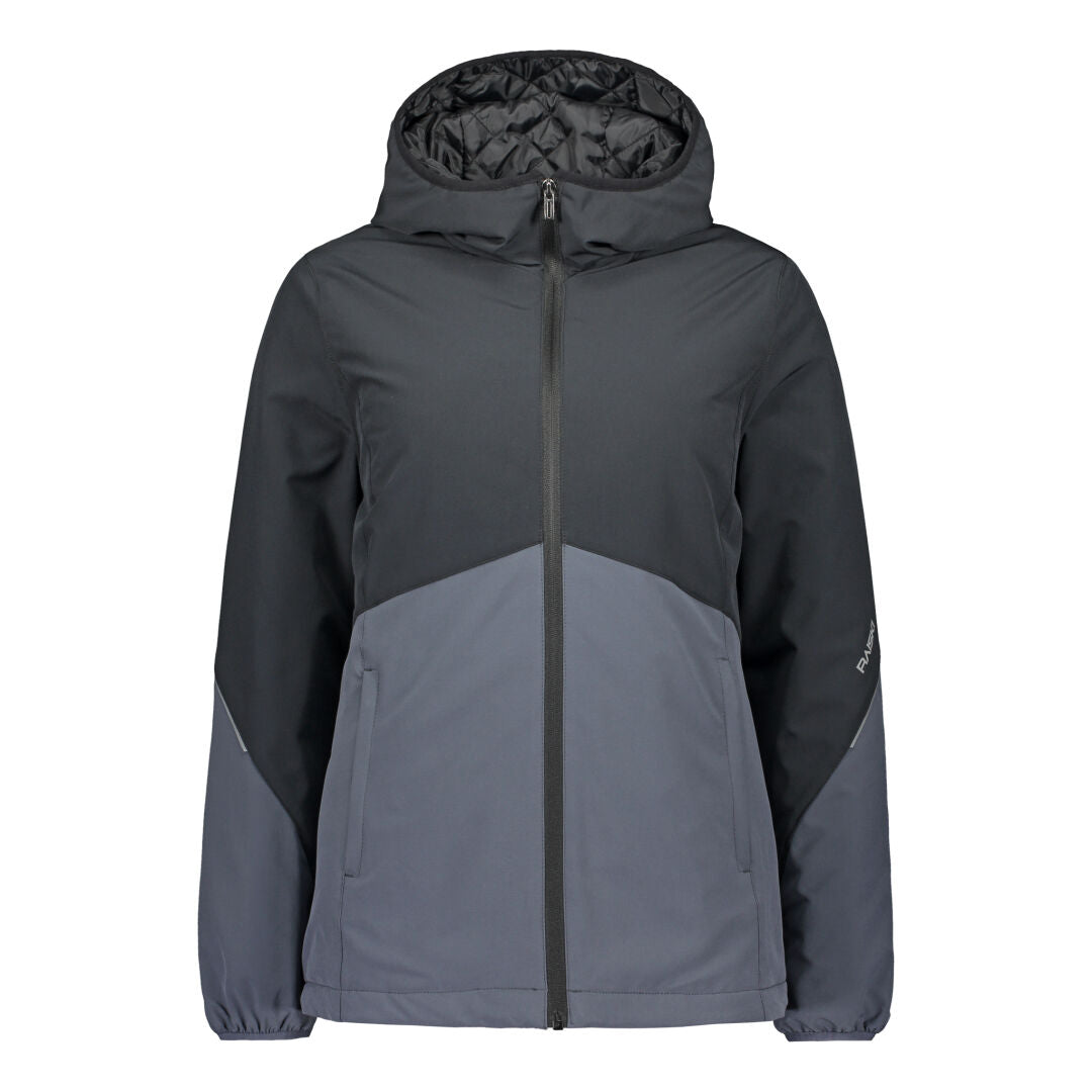 Raiski BIkka Women's Insulated Jacket Black Grey