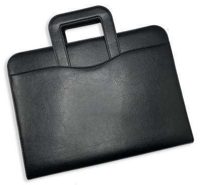 Leatherette Zippered Drop Handle Folder