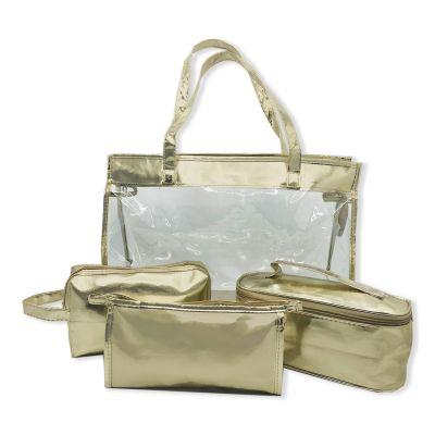 4 Piece Metallic Travel Set - [product_type]