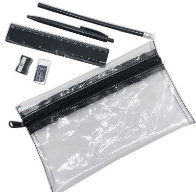 Clear PVC Stationery Set