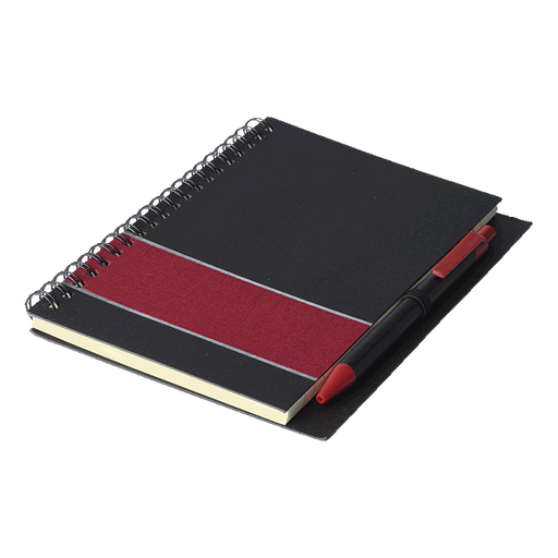 Coloured Stripe Notebook with Pen - [product_type]