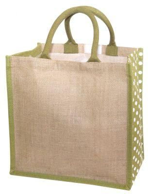 Polka Dot Jute Shopper - [product_type]