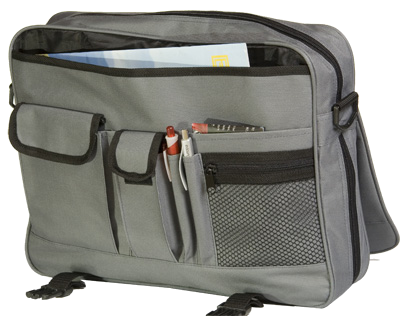 Grey Expandable Denier Conference Bag