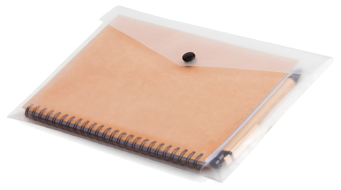 Eco Notebook & Pen in Clear Sleeve - [product_type]