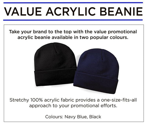 Value Acrylic Beanie