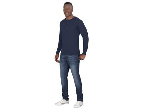 Mens Long Sleeve Henley T-Shirt - [product_type]