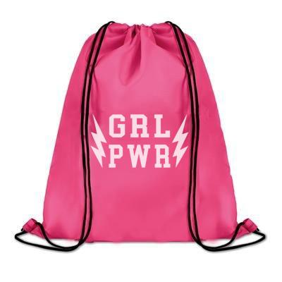 Tab Drawstring Bag