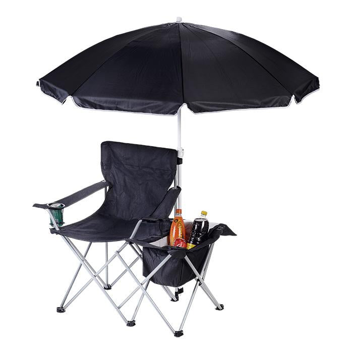 Camping Chair with Umbrella & Cooler