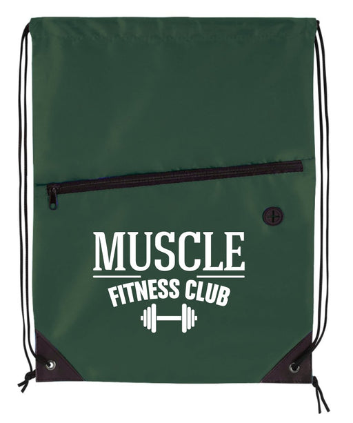 Team Zip Drawstring Bag (Bottle Green Only)