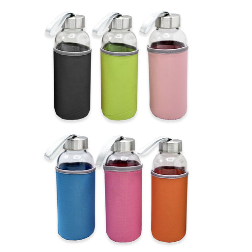 Hydrate Glass Water Bottle With Sleeve with Box