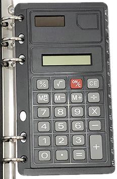 Ring-Binder Calculator with Ruler