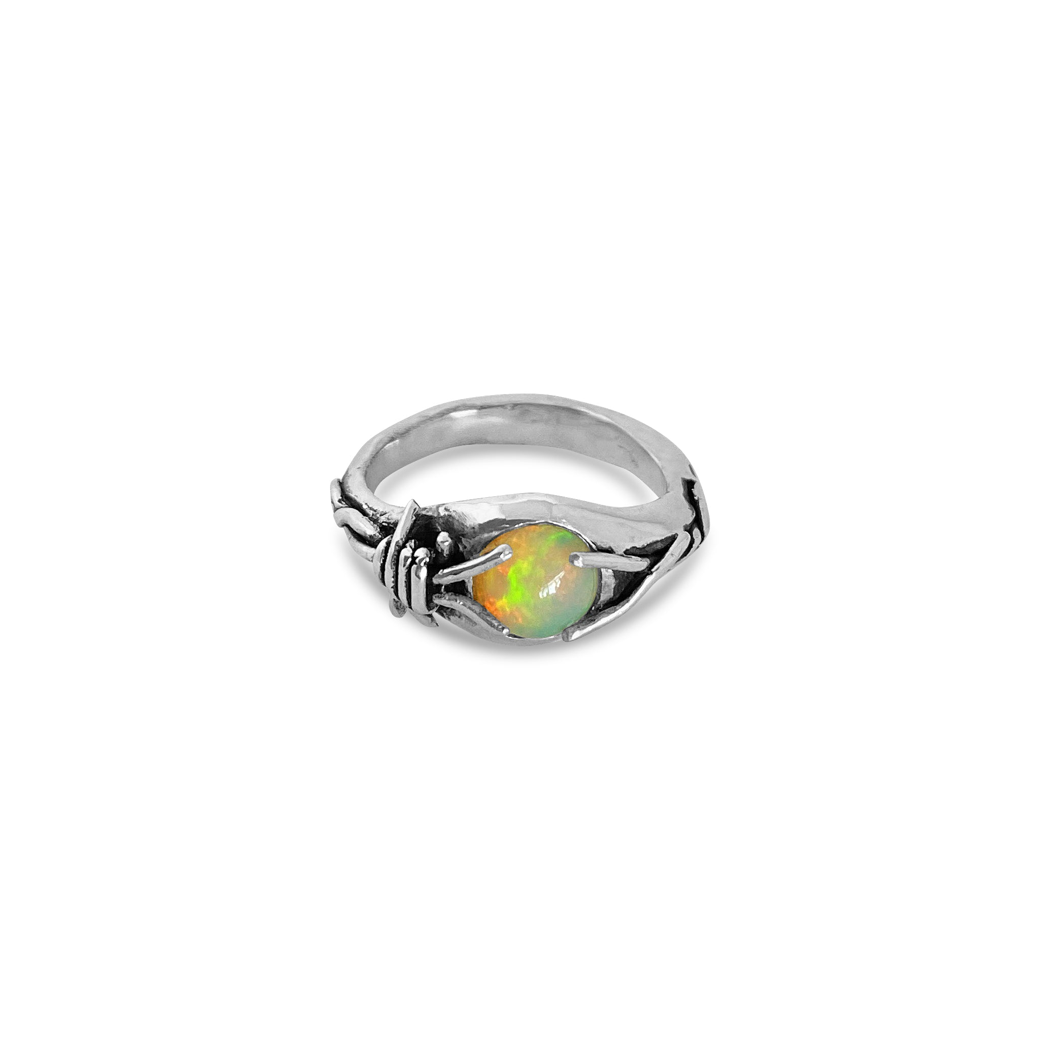 Barbed wire opal US SIZE 8 Aus SIZE Q