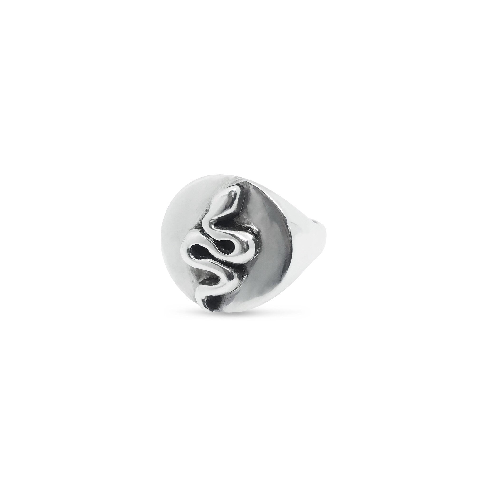 Slither signet ring