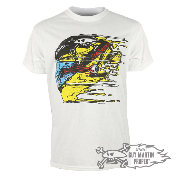Guy Martin 'Stay Outside Sideburn' White T Shirt!