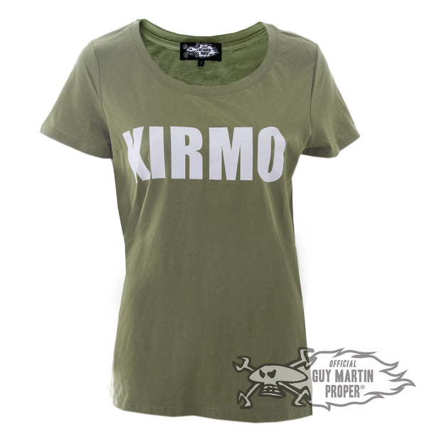 Guy Martin all new Ladies T Shirt in Black or Cammo green 'Kirmo'