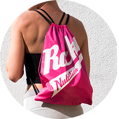 Rocka Nutrition Gymbag in pink