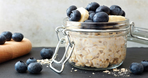 Overnight Oats zubereitet