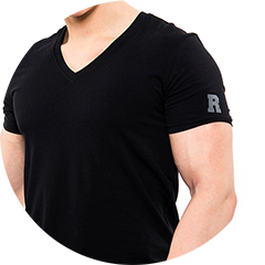 V-Neck Shirt in schwarz