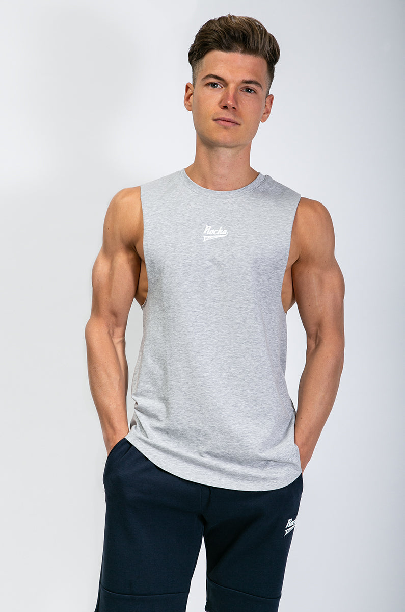 Sleeveless Shirt | Mid Grey Melange