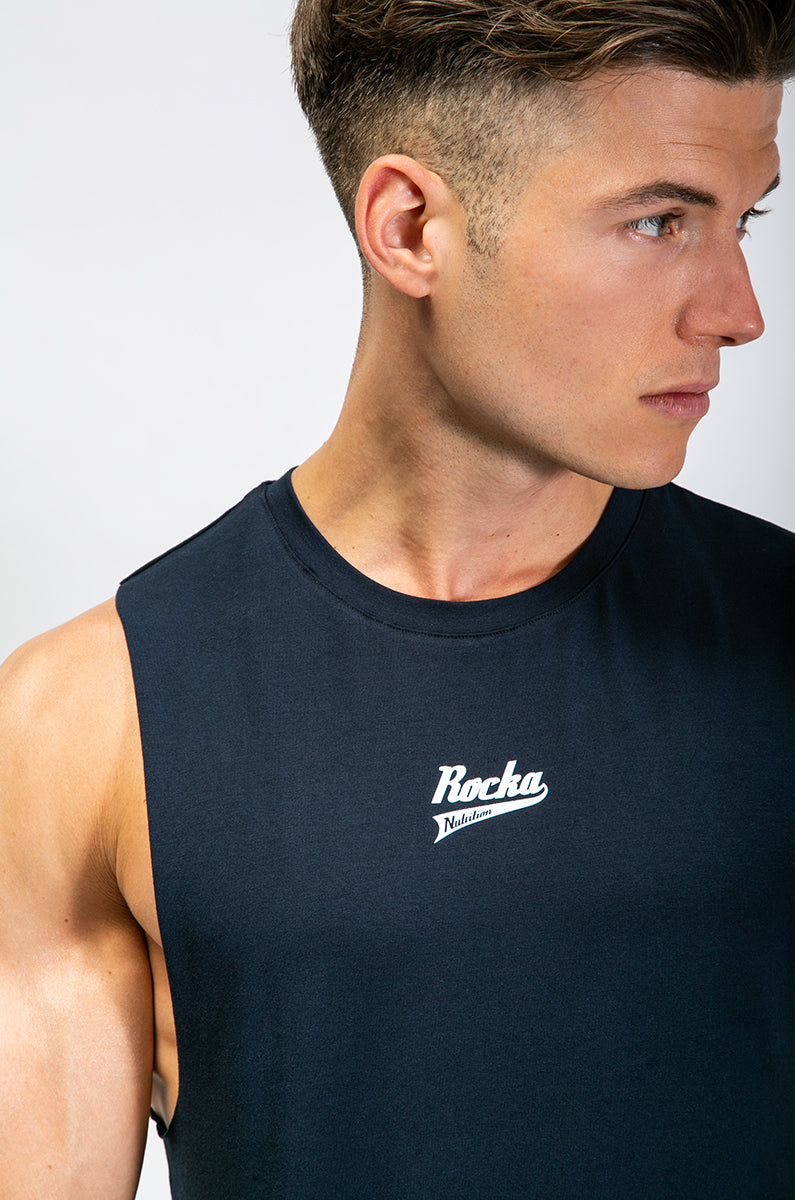 Sleeveless Shirt | Navy