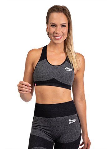 Seamless Sports Bra | Grey Melange