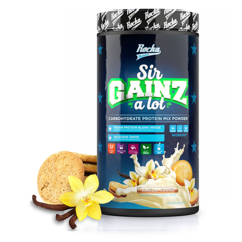 Rocka-sir-gainz-a-lot-dose-blau-mit Vanille-und-cookies