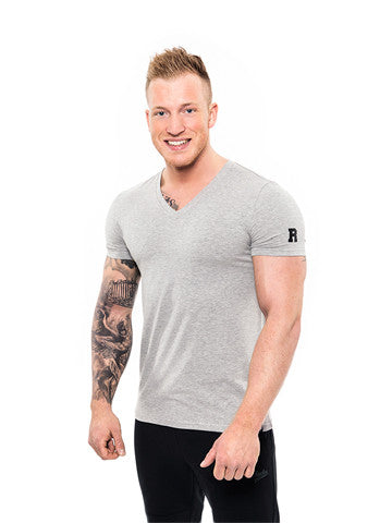 Rocka V-Neck Shirt grau