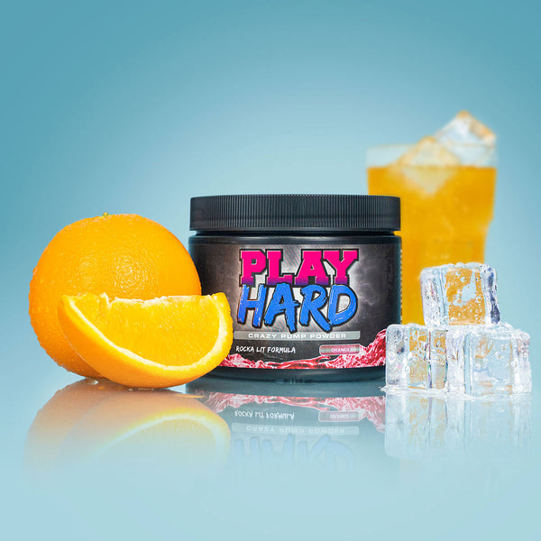 Play Hard Pump Booster | Orange