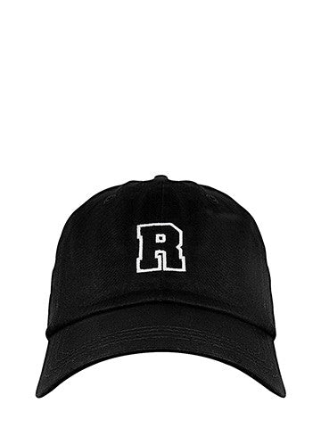 Rocka Dad Cap in schwarz frontal