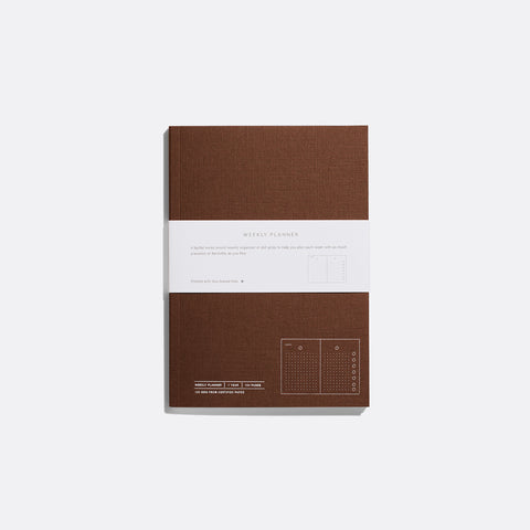 Brown Layflat Weekly Planner